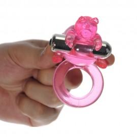 7 Model Vibrating Cute Bear Penis Ring, Prolong Ring mini vibrator motor runs for at least 30 minutes, sex toys for couples