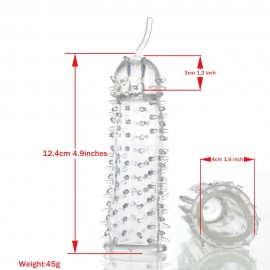 Clear Crystal Skin Basic Penis Extender Sleeve Enjoy extra length Delay ejaculation Cock Sleeve  Condom  sex toys