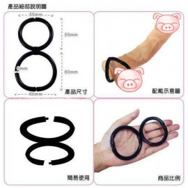 Q280-28   rubber doule rings, adjustable size, Cock ring, Penis Ring for men love ring, sex toy , adult Products