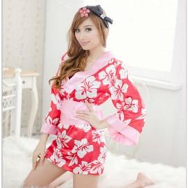 QX306  Women's sexy Japanese Style Kimono Print Classical Temptation fun set, Sexy underwear, Sexy Lingerie
