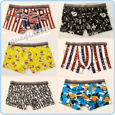 YW002 Wholesale fashion best american flag underwear bones cartoon pattern low waist pool party beach boxer shorts men