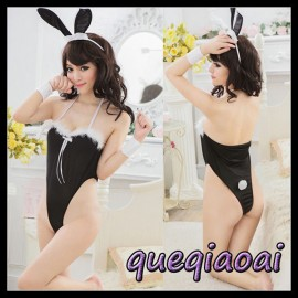Z066-15 Fashion fantasia women halter deep v-neck sexy underwear  bunny cosplay sexy costumes sexy lingerie