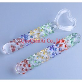 retail que0138 glass dildo, Can adjust the temperature through the water, High-quality sex toys, glass anal plug