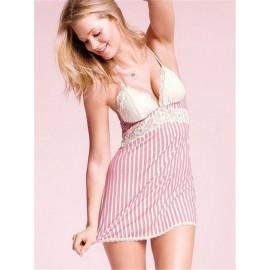 Woman Sleep Tops Night Sleeping Dress Female Sexy Nightgowns Lace Plus Size Sleep Dress Nightwear Silk  Home Dress Summer Style